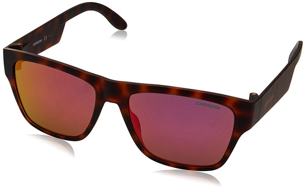Carrera CA5002ST Rectangular Sunglasses, Havana & Multilayer Pink, 55 mm