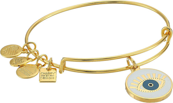 Alex and Ani Womens Charity By Design Meditating Eye Color Infusion Bangle