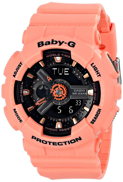 Casio Women's BA-111-4A2CR Baby-G-Digital Orange Watch