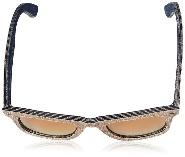 Ray-Ban WAYFARER - JEANS GREEN BROWN/JEANS Frame LIGHT BROWN MIRROR PINK Lenses