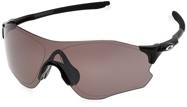 Oakley Men's Evzero Path Polarized Iridium Rectangular Sunglasses, Matte Black w/Prizm Daily Polarized, 138 mm