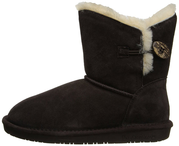 BEARPAW Women's Rosie Winter Boot, Chocolate, 6 M US