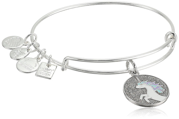 Alex and Ani Womens Charity by Design Unicorn Charm Bangle