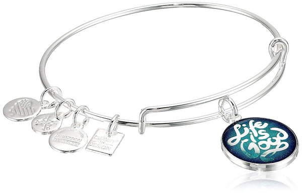Alex and Ani Womens Charity Design Life is Good Bangle