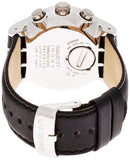 Swatch Men's 'L'Imposante' Quartz Stainless Steel and Leather Casual Watch, Colo