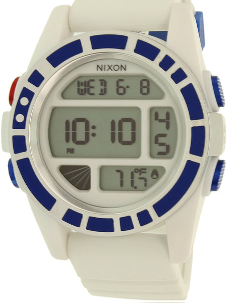 Nixon Men's Unit SW R2D2 White A197SW2379 White Silicone Quartz Watch