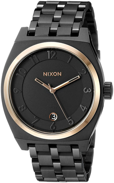Nixon Women's A325957 Monopoly Analog Display Japanese Quartz Black Watch