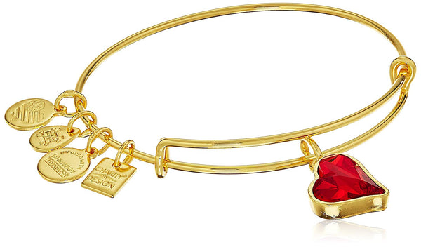 Alex and Ani Womens Charity By Design Heart Of Strength Bangle - (PRODUCT)RED