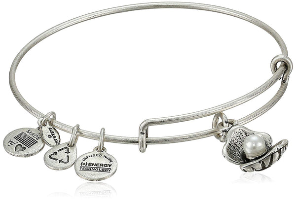 Alex and Ani Womens Oyster Charm Bangle