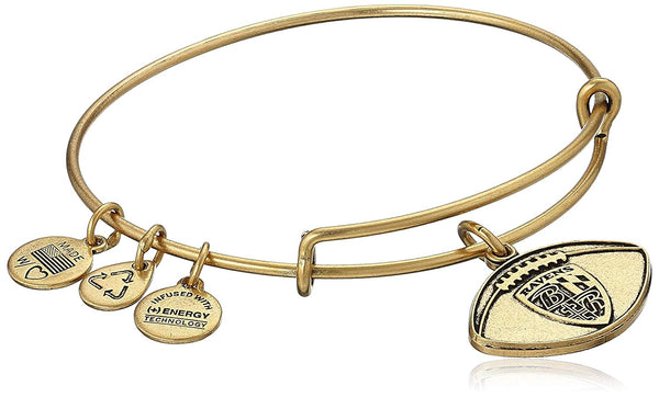 Alex and Ani Baltimore Ravens Football Expandable Bangle Bracelet