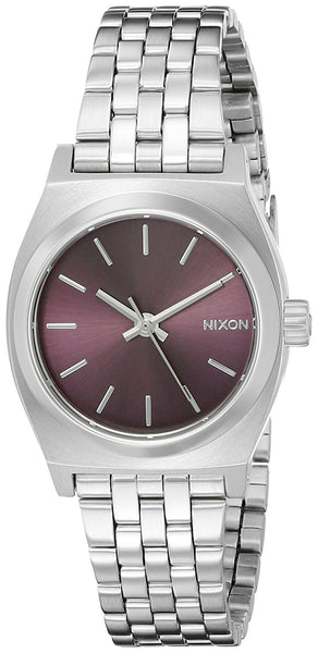 Nixon Women's A3992157 Small Time Teller Analog Display Japanese Quartz Silver Watch