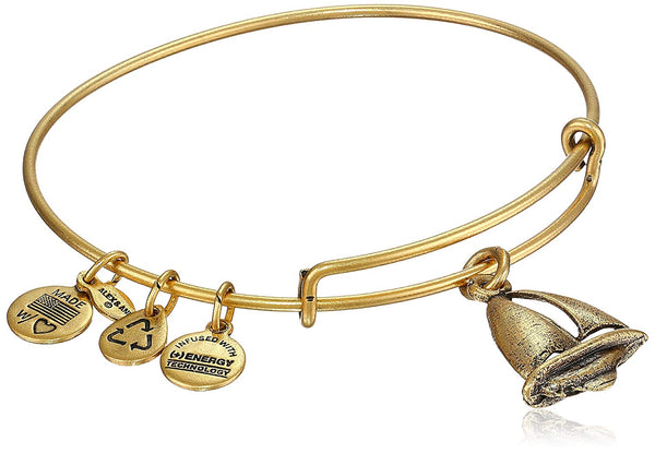 Alex and Ani Bangle Bar Sailboat Expandable Wire Bangle Bracelet, 7.75""