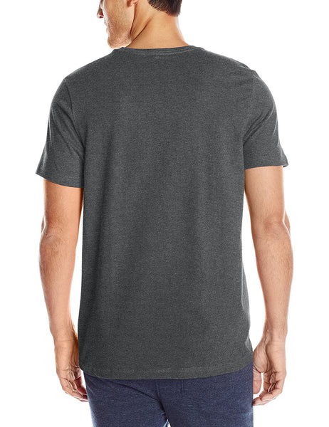 Tommy Hilfiger Men's Short Sleeve Crew Neck Flag T-Shirt, Charcoal, Small