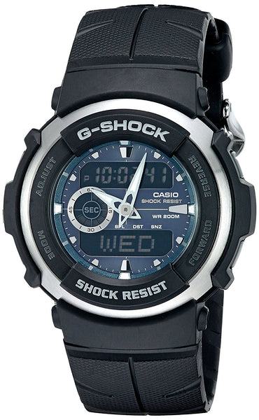 G-Shock G300-3AV Men's Black Resin Sport Watch