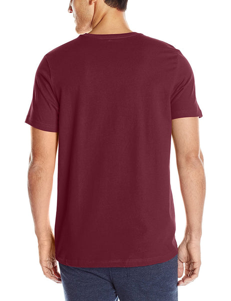 Tommy Hilfiger Men's Short Sleeve Crew Neck Flag T-Shirt, Wine, Small