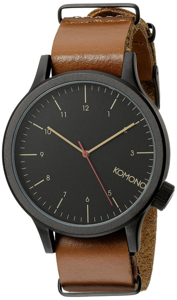 KOMONO Unisex KOM-W1901 Magnus Analog Display Japanese Quartz Brown Watch
