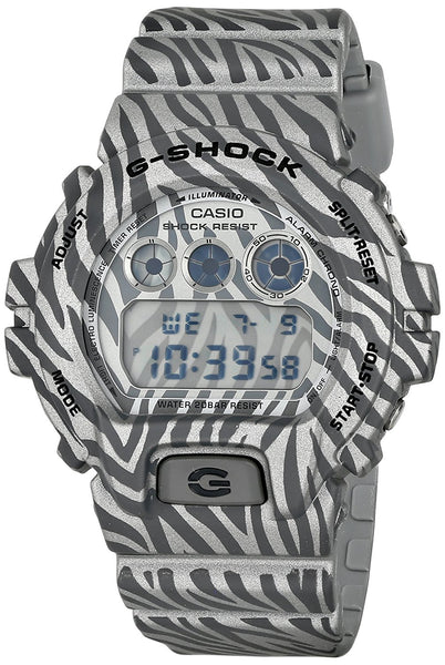 Casio G-ShockDigital Dial Grey Zebra Camouflage Mens Watch DW6900ZB-8CR