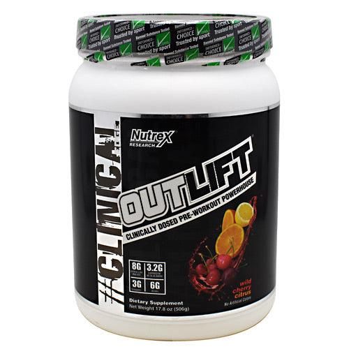Nutrex Research Clinical Edge Outlift - Wild Cherry Citrus - 20 Servings - 857839006150