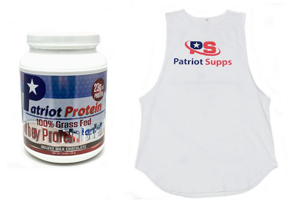 Patriot Protein & Tank Bundle - 100% Grass Fed Protein Isolate