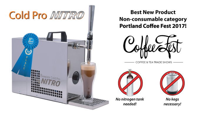Brewista's Nitro Cold Brew Coffee dispenser takes first place at Portland Coffee Fest