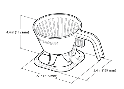 Smart Brew Steeping Filter Dimensions