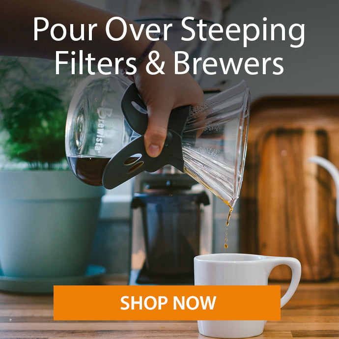 Brewista pour over steeping filters and brewers