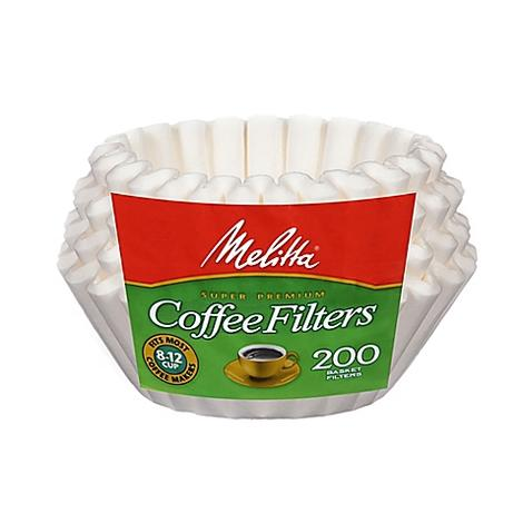 8-12 CUP BASKET FILTER PAPER WHITE 200 COUNT