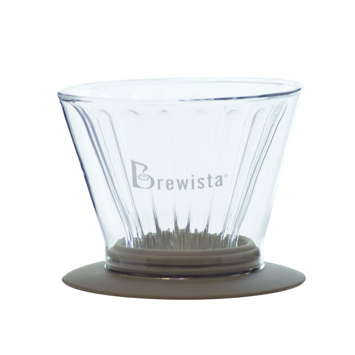 Smart Dripper™ Flat V Cone Glass Dripper - Brewista
