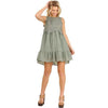 Umgee Lovely in Lace! Gauze Dress with Lace Bodice/ Ivory