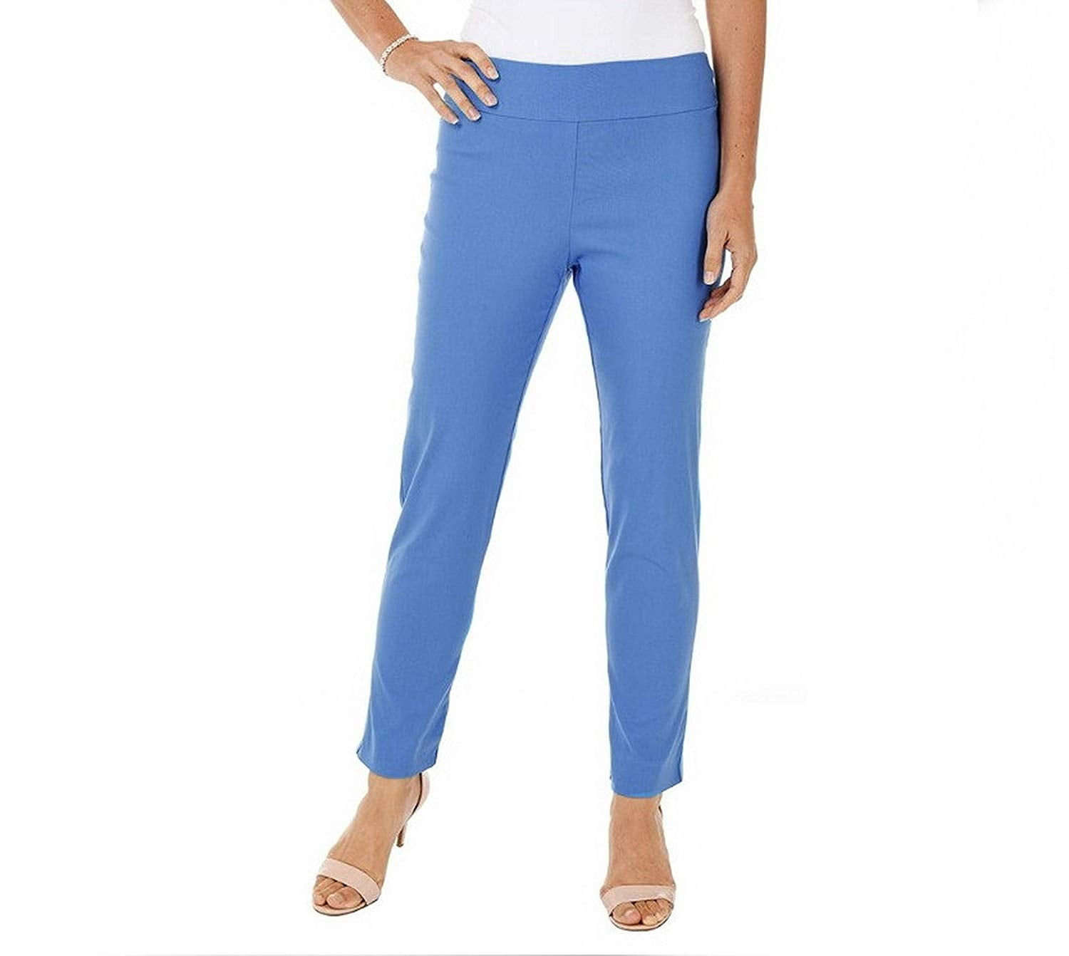 429245b4a53 Krazy Larry Womens Microfiber Long Skinny Dress Pants  blue prints