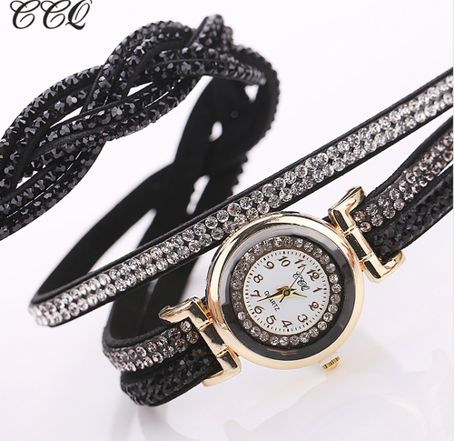 Casual Quartz  Rhinestone Bracelet Watch