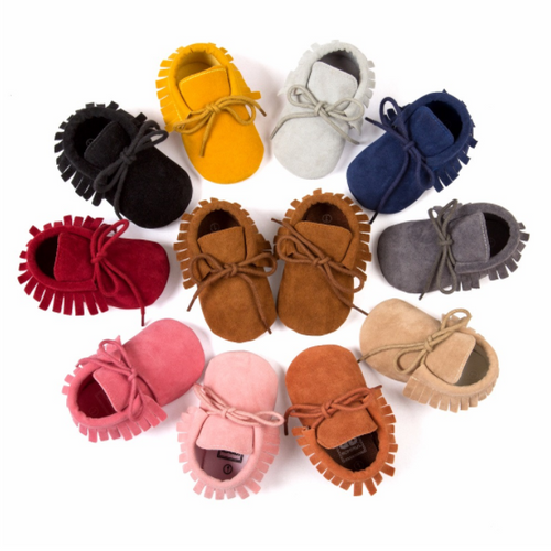 Suede Leather Baby Boy Girl Moccasin shoes