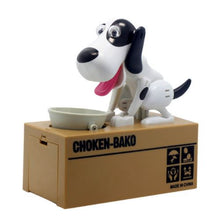 White and Black Doggy Coin Bank
