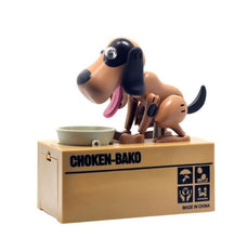 Brown and Black Doggy Coin Bank