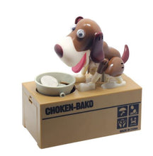 Brown and White Doggy Coin Bank