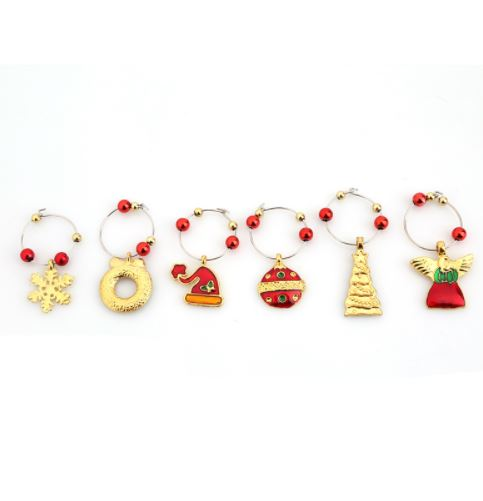Christmas Wine Glass Decoration Charms