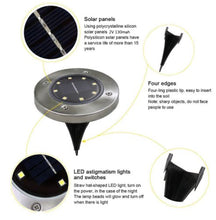 Waterproof Solar Powered LED Lights (Set of 4)