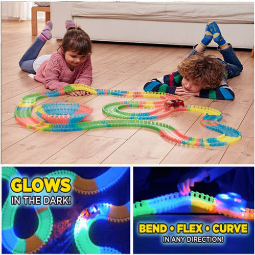 LED Race Car Tracks - Glow in the Dark