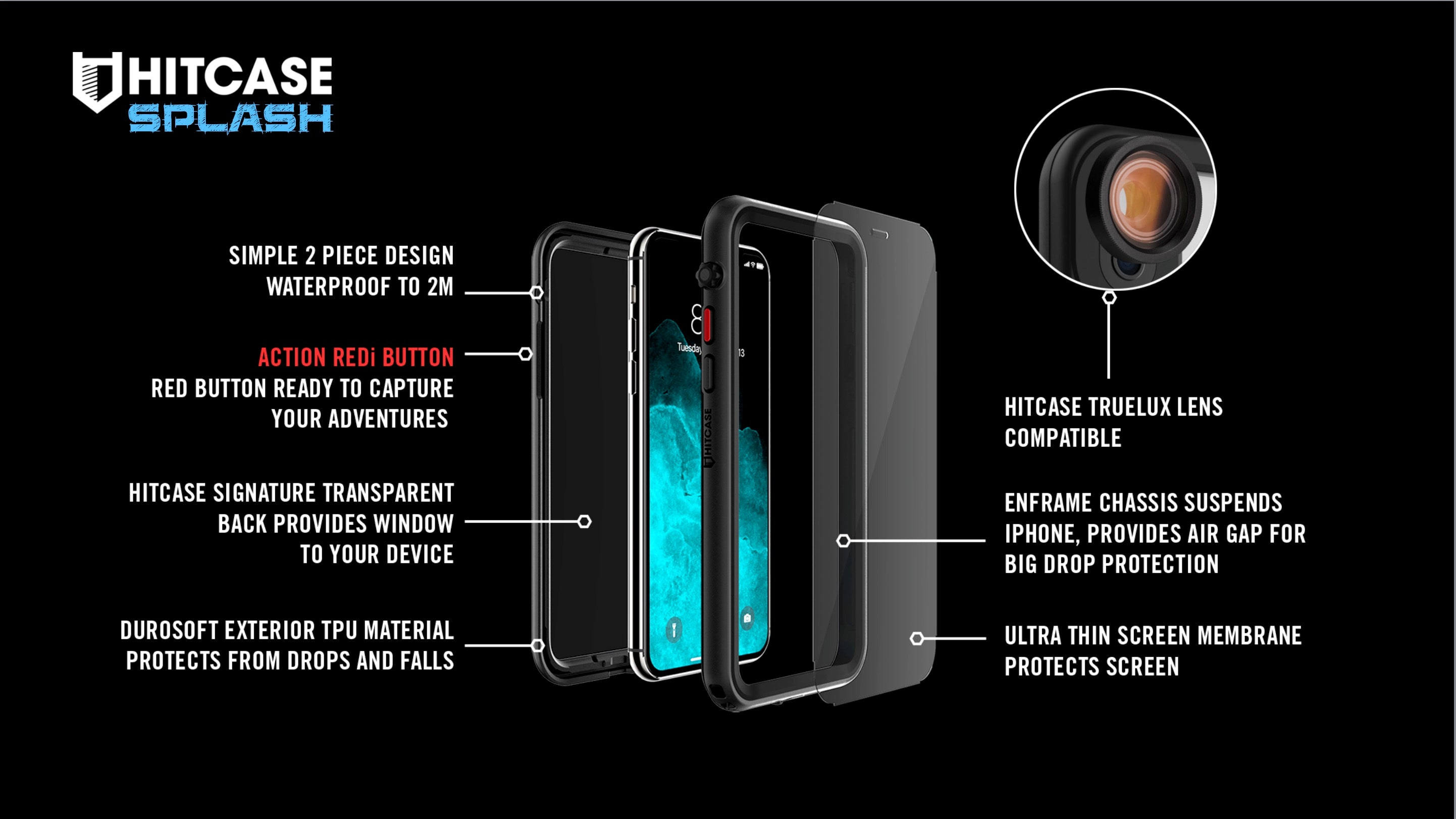 hitcase splash features for iphone