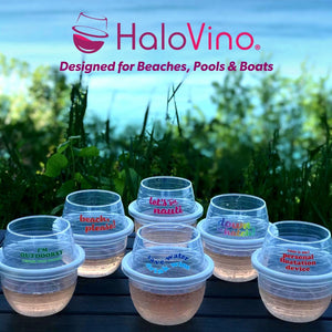 Beach, Boat & Pool HaloVino Wine Tumblers (Set of 6)