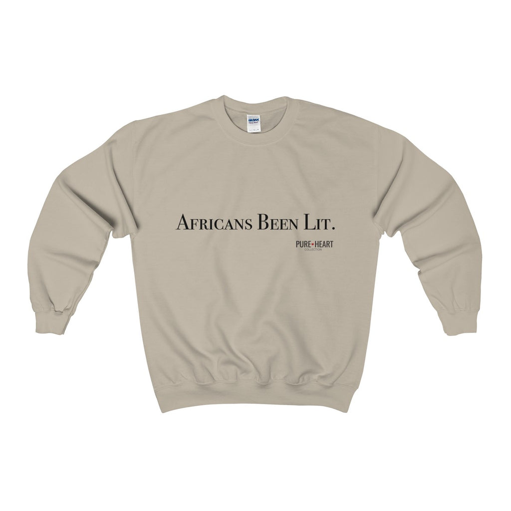 Africans Been Lit Heavy Blend™ Adult Crewneck Sweatshirt