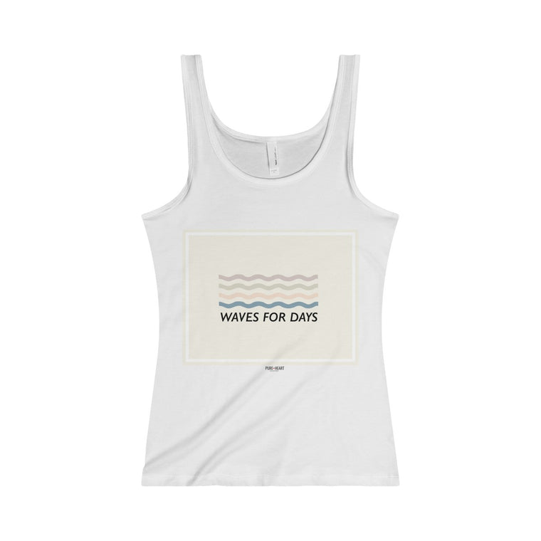 Waves For Days Jersey Tank- Shell