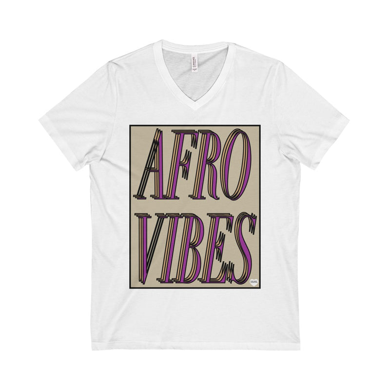 Wheat Afro Vibes Unisex  Short Sleeve V-Neck Tee