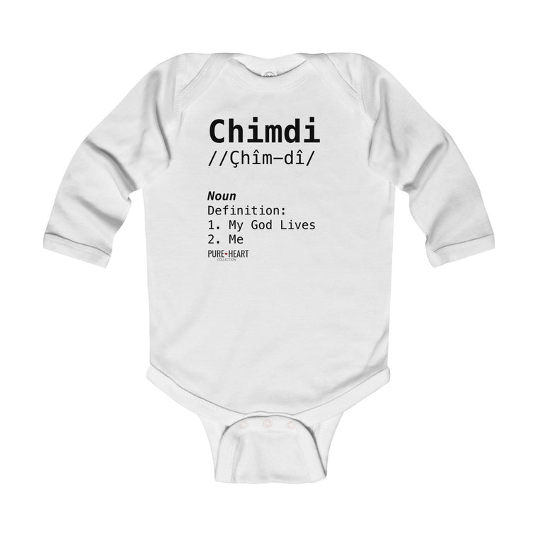 Chimdi Definition Infant Long Sleeve Bodysuit
