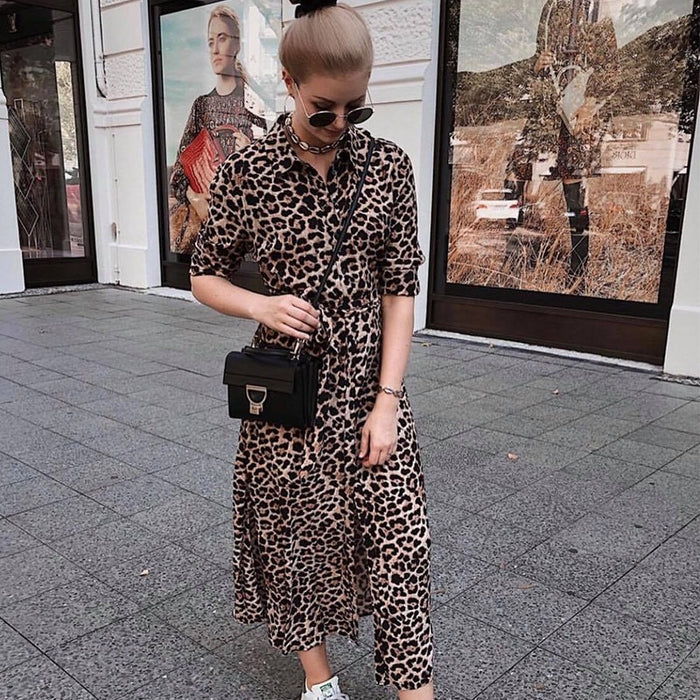 Leopard Split dress