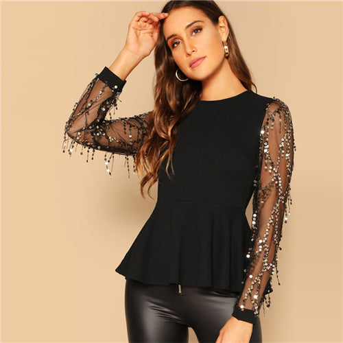 Glam sleeve top