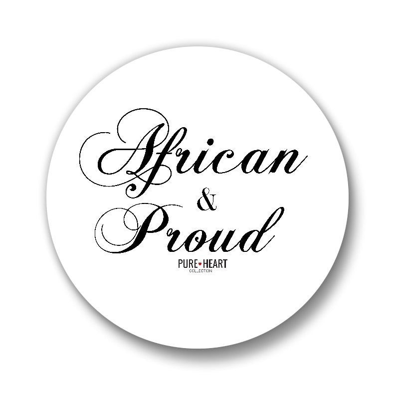 "African & Proud 1"" Button"