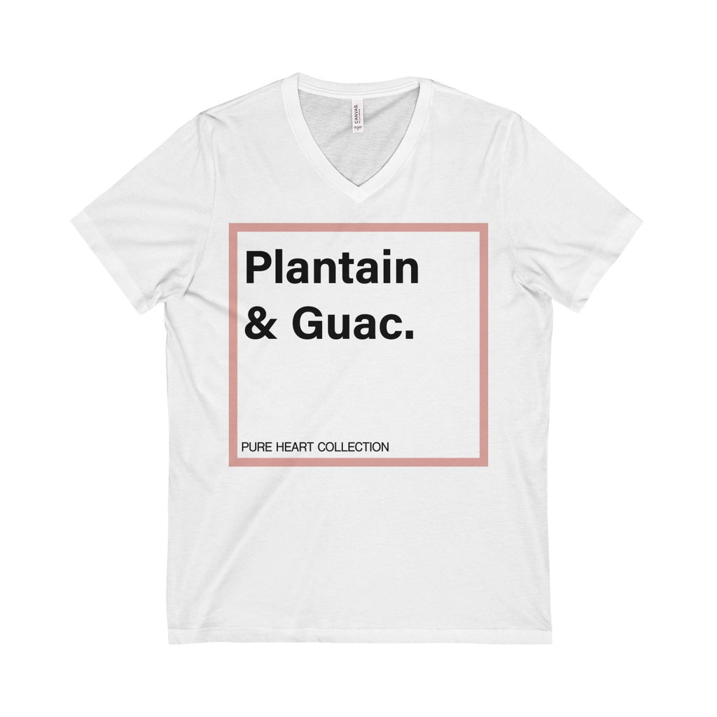 Plantain & Guac Unisex  Short Sleeve V-Neck Tee