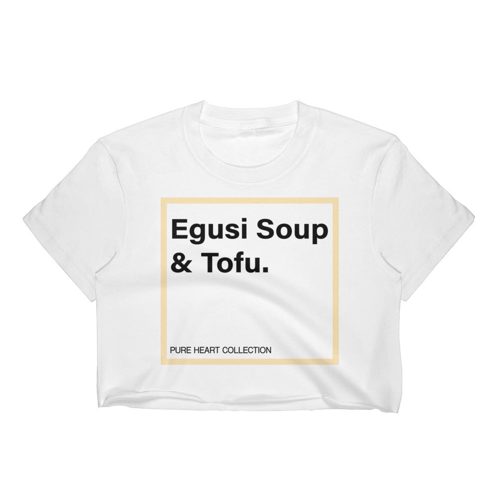 Egusi Soup & Tofu Women's Crop Top