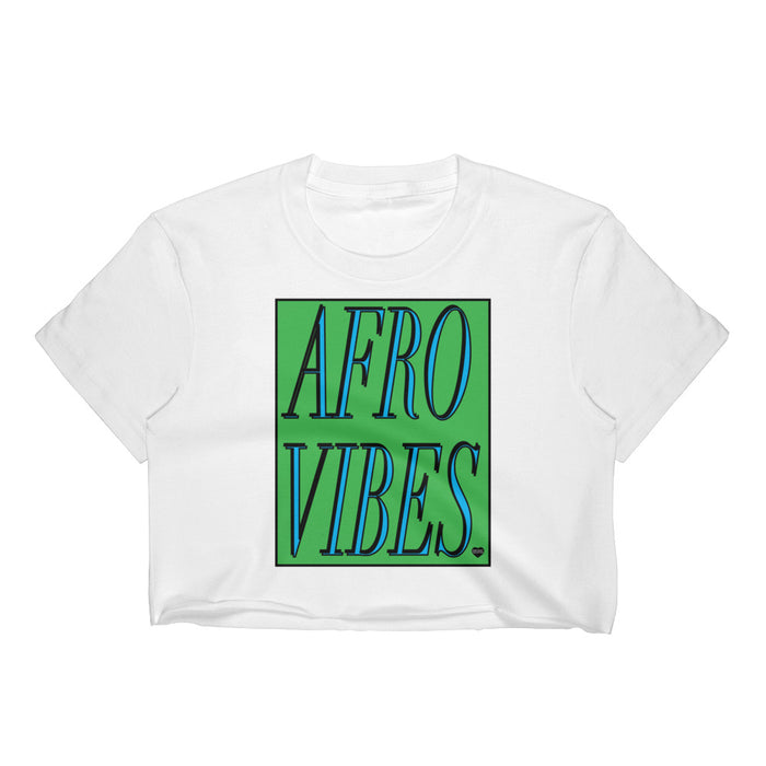 Green Afro Vibes Women's Crop Top